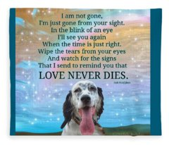 Custom Order Finnegan Love Never Dies Fleece Blanket