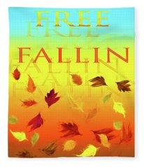 Free Fallin Fleece Blanket