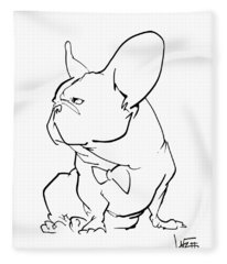 French Bulldog Gesture Sketch Fleece Blanket