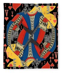 French Playing Card - Lahire, Valet De Coeur, Jack Of Hearts Pop Art - #2 Fleece Blanket