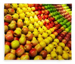 Fresh Apples Fleece Blanket