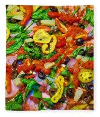 Fresh Pizza Fleece Blanket