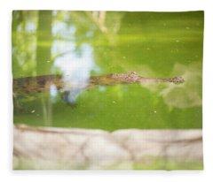 Freshwater Crocodile Fleece Blanket