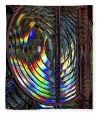 Fresnel Lens Point Arena Lighthouse Fleece Blanket