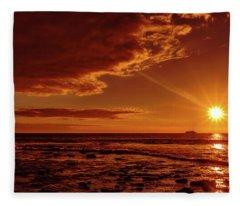 Friday Sunset Fleece Blanket