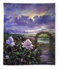 From A Veil Of Mist, Light And Lavender Blue Fleece Blanket