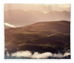 Fleece Blanket featuring the photograph From Neahkahnie by Whitney Goodey