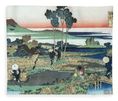 From The Illustrations To 100 Poems By 100 Poets Tenji Tenno. Fleece Blanket