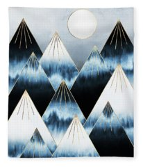 Frost Mountains Fleece Blanket
