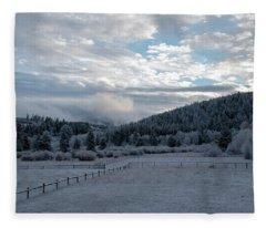 Frosted Sunrise 1 Fleece Blanket