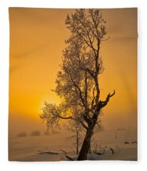 Frosted Tree Fleece Blanket