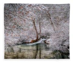 Frosty Pond Fleece Blanket