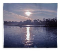 Frozen Lake Fleece Blankets