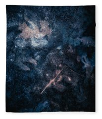 Fleece Blanket featuring the photograph Frozen Leaves by Allin Sorenson