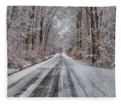 Frozen Road Fleece Blanket