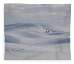 Frozen Winter Hills Fleece Blanket