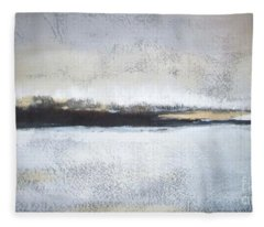 Frozen Winter Lake Fleece Blanket