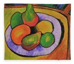 Fruit Bowl After Cezanne Fleece Blanket