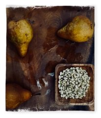 Fruits And Nuts Fleece Blanket