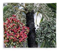 Fruity Palm Tree  Fleece Blanket