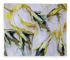 Fuchsia Eco Printed Magic Fleece Blanket
