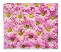 Full Of Pink Flowers Fleece Blanket