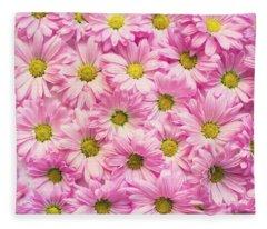 Full Of Pink Flowers Fleece Blanket