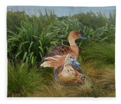 Fulvous Whistling Ducks  Fleece Blanket
