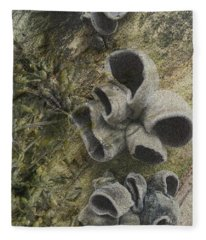 Fungi And Algae Fleece Blanket