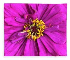 Fuschia Bloom Fleece Blanket