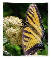 Fuzzy Butterfly Fleece Blanket