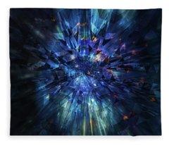 Galactic Crystal Fleece Blanket