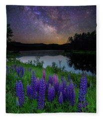 Galactic Lupines Fleece Blanket