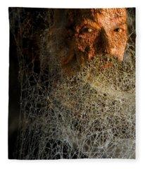 Gandalf - Cobwebby Self-portrait Fleece Blanket