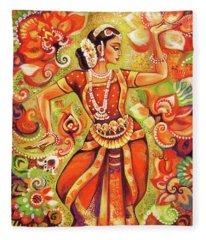 Ganges Flower Fleece Blanket