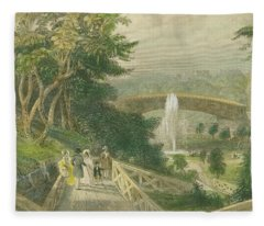 Garden At Fairmount Fleece Blanket