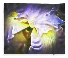 Garden At Midnight Fleece Blanket