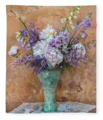 Garden Beauties Fleece Blanket
