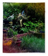 Garden Fairy Fantasy Fleece Blanket