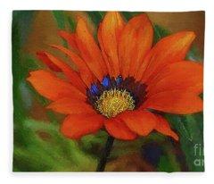 Garden Flower Impressionist Fleece Blanket