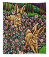 Garden Frolic  Fleece Blanket