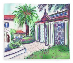 Garden House Palm Beach Fleece Blanket