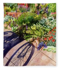 Garden Shadows II Fleece Blanket