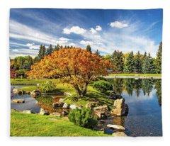Garden Splendour Fleece Blanket