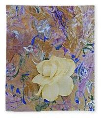 Gardenia Jazz Fleece Blanket