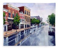 Gaslights And Afternoon Rain Fleece Blanket