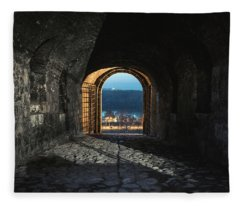 Gate At Kalemegdan Fortress, Belgrade Fleece Blanket
