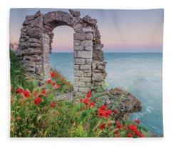 Gate In The Poppies Fleece Blanket