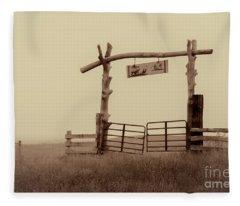 Gate In The Wilderness Fleece Blanket