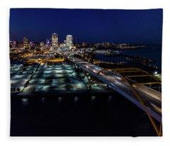 Fleece Blanket featuring the photograph Gateway To Milwaukee by Randy Scherkenbach